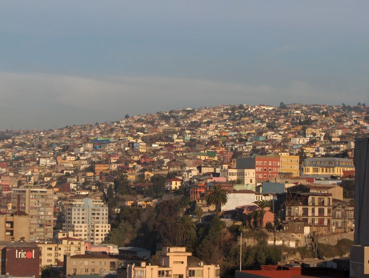 View of Valparaiso from Vina Del Mar