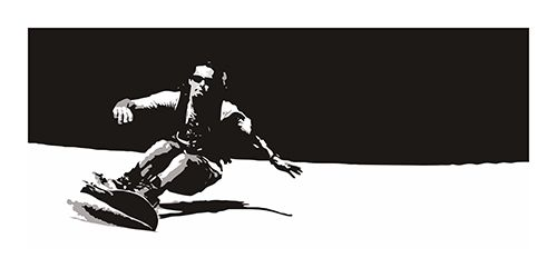 #Poster #Kunstdruck Fine #Art #Print Chao Zhang Into The #Snow Twenty Four #Gallery #illustration #artprint #twentyfourgallery #chaozhang #snowboard #snowboarding