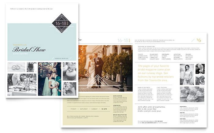 Bridal Show Brochure Template Design by StockLayouts