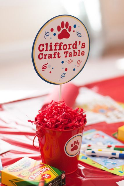 Activities at a Clifford the Big Red Dog Party #clifford #activities