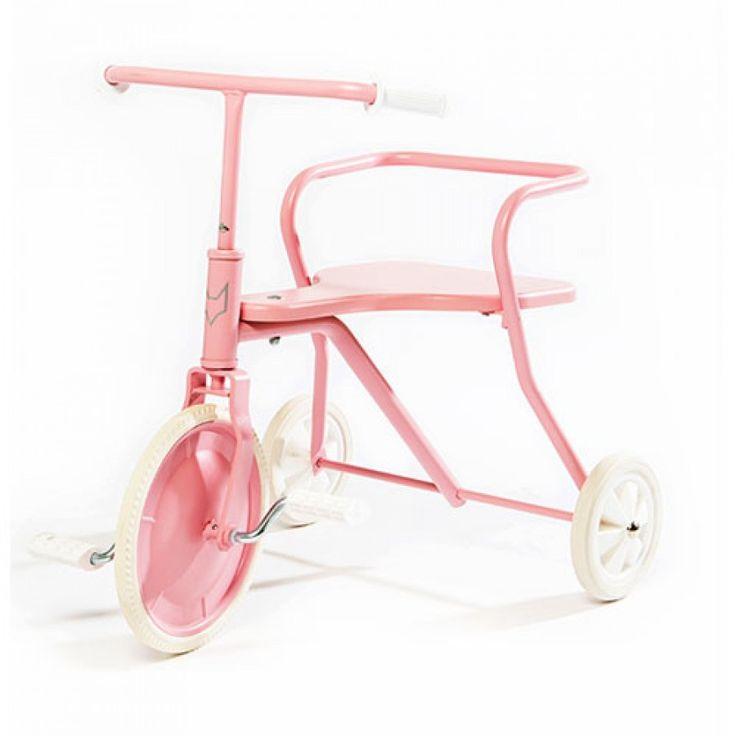 foxrider retro driewieler - vintage roze | ilovespeelgoed.nl