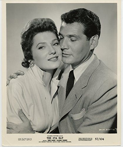 Gene Barry and Valerie French in The 27th Day (1957)