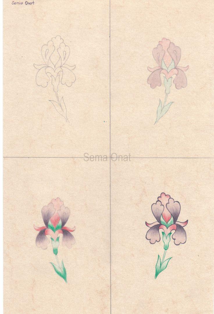 Tezhip sanatında, çiçeklerde birçok boyama çeşitleri vardır. Bunlardan biride tarama tekniğidir. Tarama tekniğini uygulamaya karar verdiğimiz çiçek desenimizi öncelikle bir eskize çizdikten sonra...