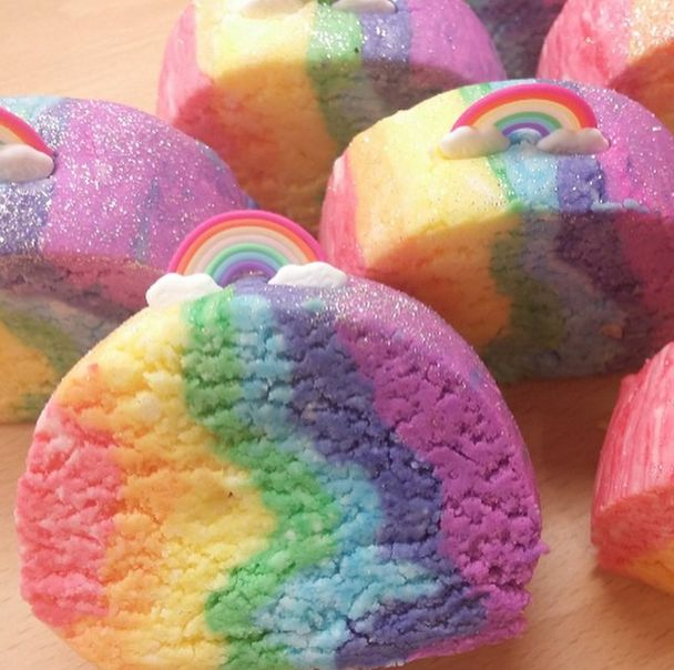 Nice Coal Harbour Bath Bombs   Rainbow Sherbet Crumble Block, £3.25 (http:/