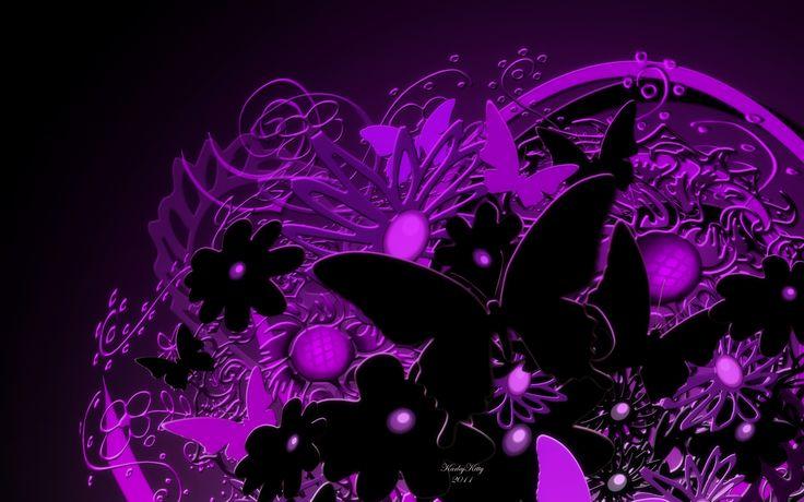Black And Purple Butterfly | Purple Butterfly Desktop ...