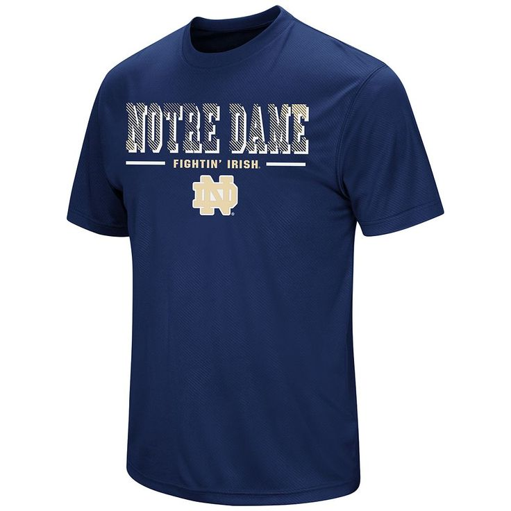 Men's Colosseum Notre Dame Fighting Irish Embossed Tee, Size: Medium, Blue (Navy)