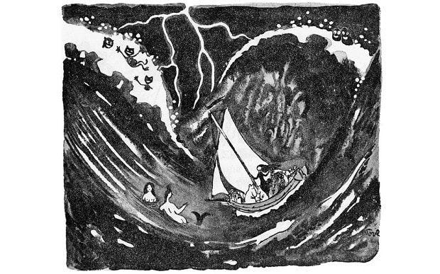 Znalezione obrazy dla zapytania moomins and the sea