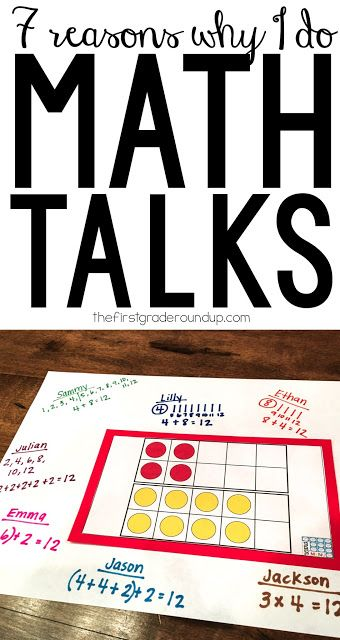 Math talks are a great way to engage kids in conversations about math.  It's as simple as talking to kids about math...so, what's the big deal? Why are math talks all the rage right now in the primary classroom?