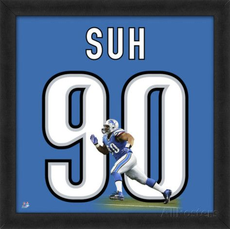 Ndamukong Suh, Lions representation of the player's jersey Framed Memorabilia