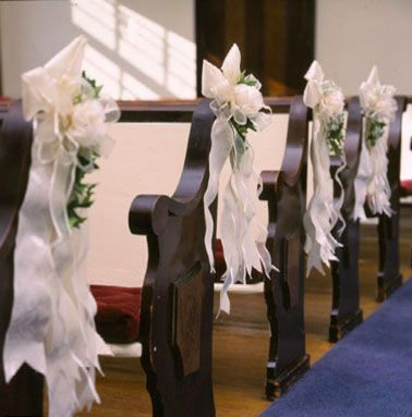 Pew bow decorations for weddings church pew bows pew - Bow decorations for weddings ...