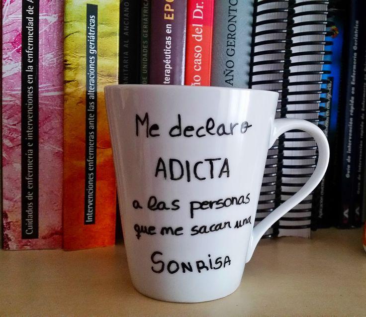Decorar tazas #personalizar #tazas #mug #cerámica #diy #hazlotúmisma #laboresenlaluna #sonríe #manualidades