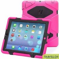 Ipad 4 & 3 & 2 Case; Gogoing Hot Newest Ipad 4 & 3 & 2 Non Toxic Eva Case Super 3d Protect Military-duty Case with Stand Holder Shell Cover Case for Apple Ipad 4 Ipad 3 Ipad 2 - Rainproof Sandproof Dust-proof Shockproof (Pink/Black)   1. There are two layers of protective film on the screen protector. If The front has obvious lines across,please peel off the protective film on Read  more http://themarketplacespot.com/accessories-ios/ipad-4-gogoing-hot-newest-ipad-4-3-2-non-to