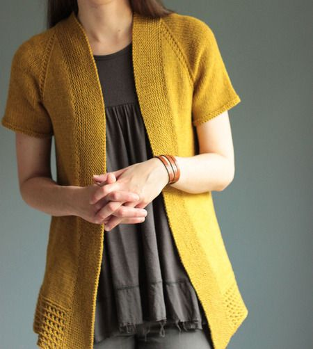 The Brown Stitch Passing Showers Top-Down Cardigan Knitting Pattern
