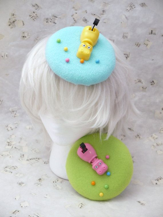 Hipp Childrens Game Pink and Green Circle Saucer Hair by ThreeLace, $28.00