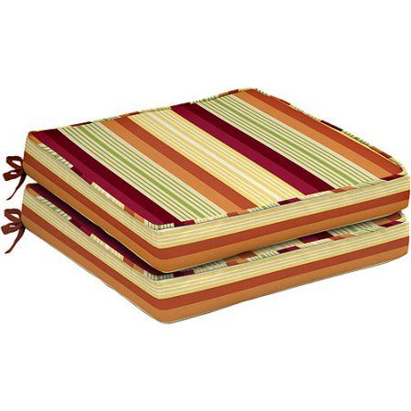 Better Homes and Gardens Sorbet Stripes Seat Pad, 2 pack, Multicolor