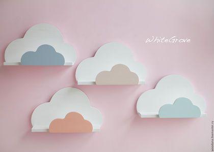 Cloud shelf / Детская ручной работы. Ярмарка Мастеров - ручная работа. Купить Пастельные полочки-облака. Handmade. Полочка, детская мебель, полка