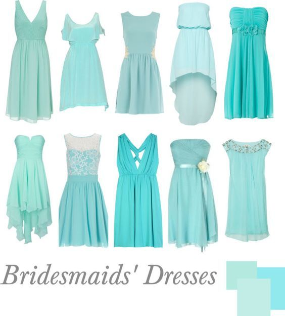 """""""Bridesmaids' Dresses   Tiffany Blue"""" by pinkrubbersoul on Polyvore"""