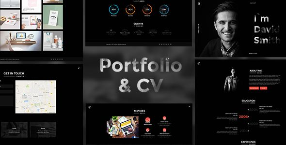 Portfolio And CV by kamleshyadav Portfolio is perfectly responsive HTML Template, with a Unique and Creative design. It comes with HTML5 & CSS3 Pages based on Twitter Bootstrap grid system. A Modern design premium quality HTML Template with advanced features, dif