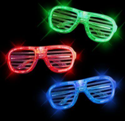 Shutter Shades -Bold. Blue, Green, Red