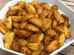 sprøde kartofler vendt i rasp