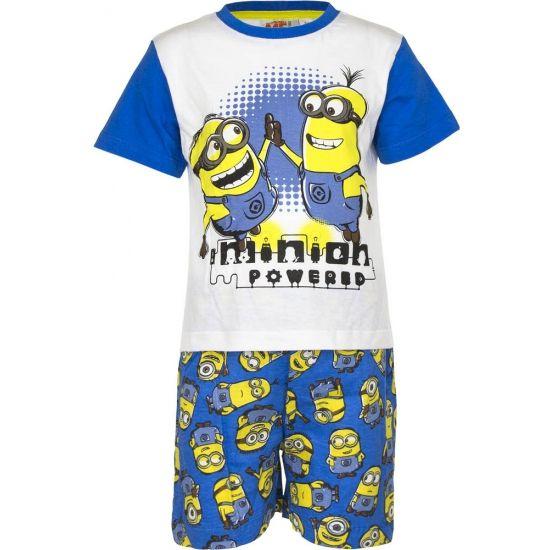 Shortama Minions powered  Blauwe korte pyjama Minions powered. Deze pyjama met korte broek en opdruk van de Minions is gemaakt van 100% katoen.  EUR 9.95  Meer informatie