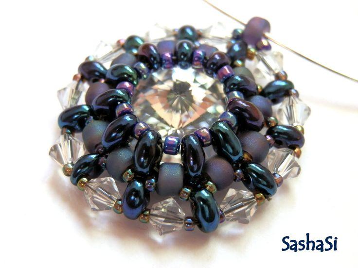 művészeti, kézműves és gyöngyök: Preciosa TWIN - Rivoli Medál bemutatója - személyes használatra ingyenes