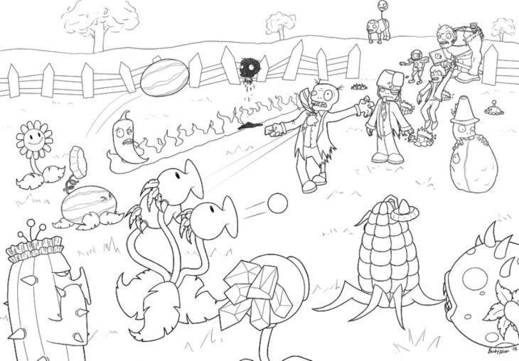 Plants Vs Zombies Free Printable Coloring Page For Kids ...