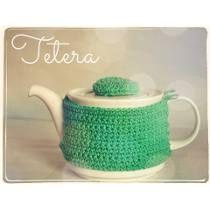 Tetera Porcelana Con Funda Crochet, Miralas!