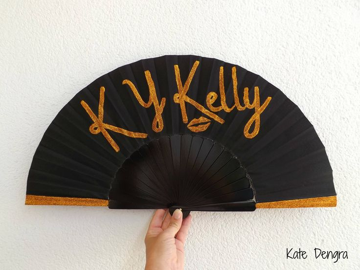 Shade Thwoorp Hand Fan Glitter Name Drag Queen by Kate Dengra