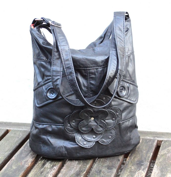 Black bag with a flower