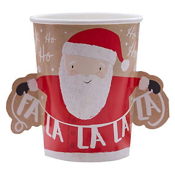 Santa Christmas Party Cups 3D
