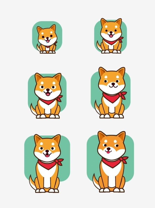 Cartoon Shiba Inu Animal Growth Process Decorative Pattern Shiba Inu Animal Process Of Growth Png And Vector With Transparent Background For Free Download Shiba Inu Cartoon Expression Cartoon Background
