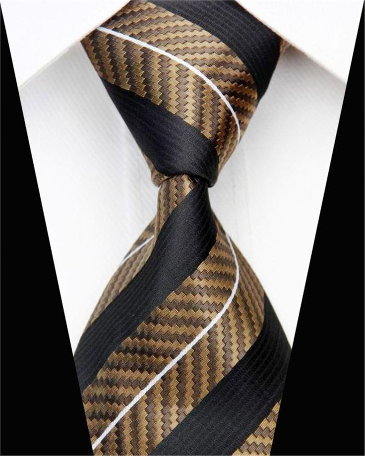 Fashion Business Tie Men 8Cm Dark Blue White Stripes