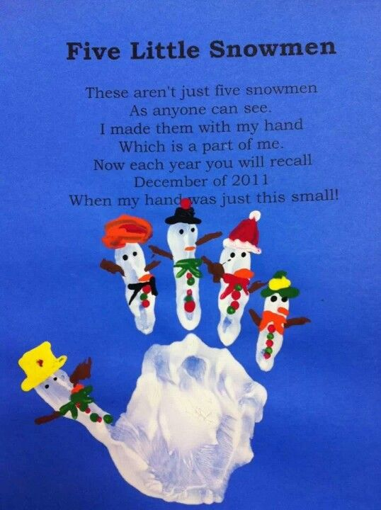 Snowman Handprints Christmas Christmas Crafts For Kids