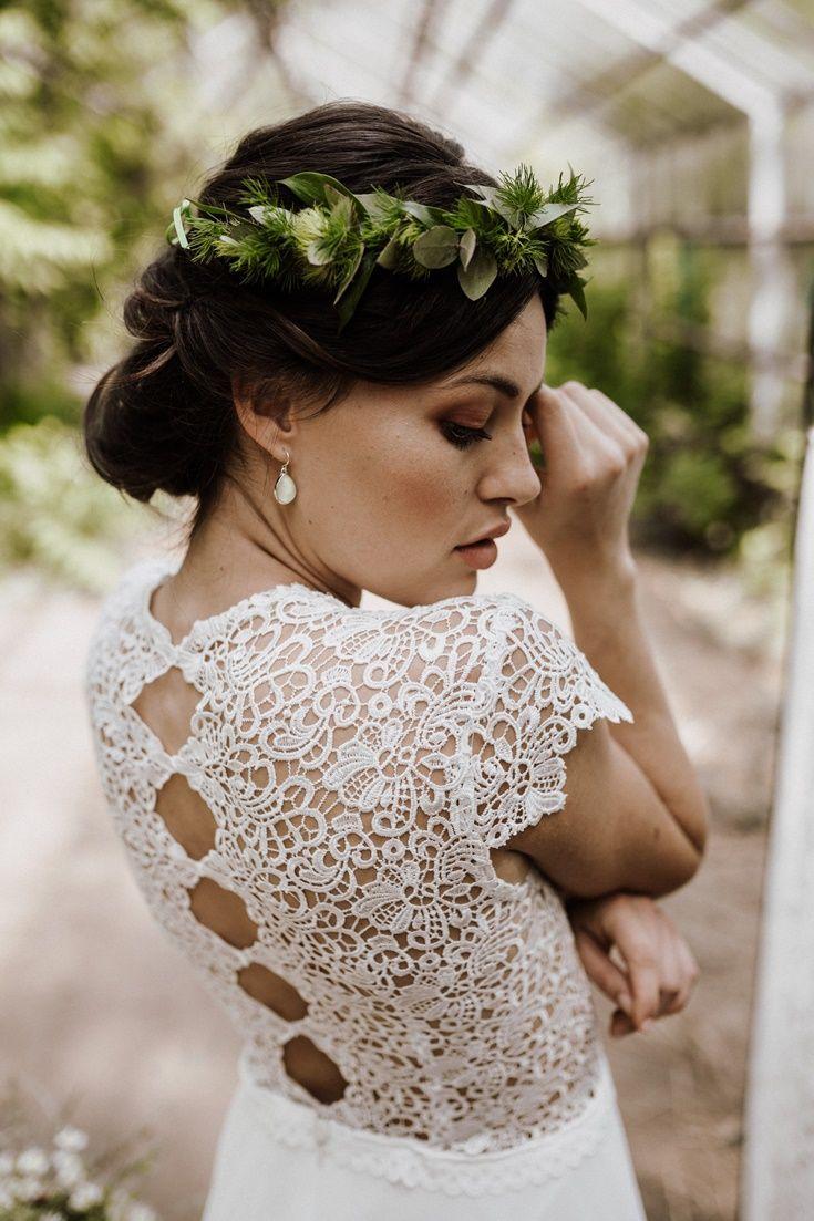 Brautkleid Boho kurz mit Spitze in 12  Brautkleid kurz