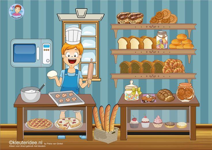 Praatplaat thema bakker voor kleuters by juf Petra van kleuteridee