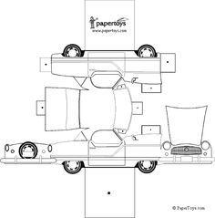 3d Printable Car Templates   Google Søk | Toy Cars | Pinterest | Papercraft  Printable Car Template