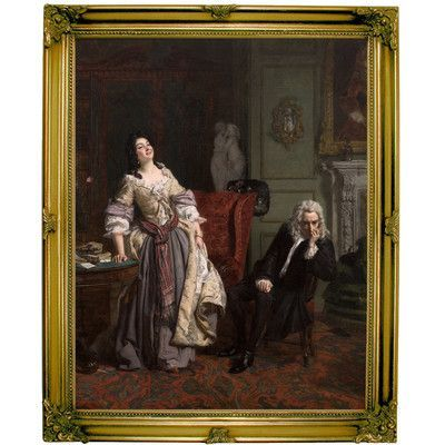 Historic Art Gallery 'Pope Makes Love to Lady Mary Wortley Montagu 1852' by William Powell Frith Framed Painting Print