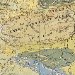 Belgique. Carte géologique, 1925 (détail)