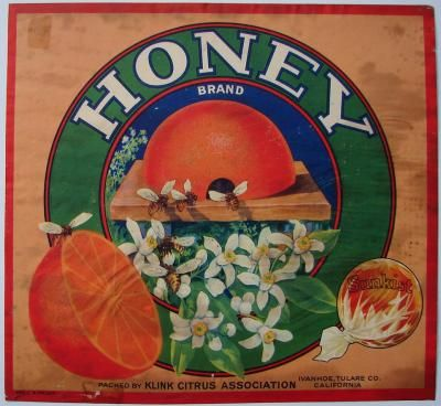 vintage fruit crate honey