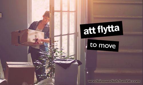 att flytta