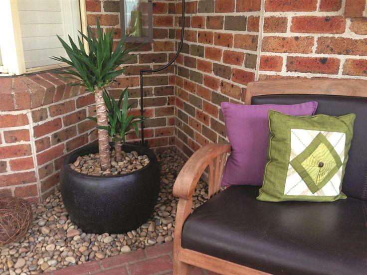 Northcote Pottery 55 x 38cm Black Precinct Lite Terrazzo Moon Pot #fibreclay #lightweight #courtyardplant #balconyplant