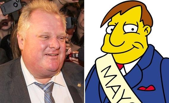Who Said It: Toronto Mayor Rob Ford or Springfield Mayor Joe Quimby