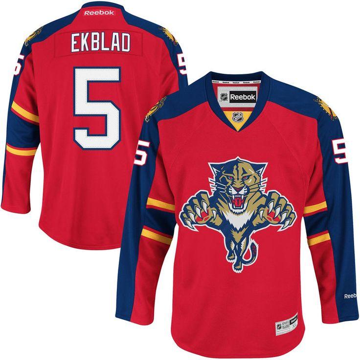Florida Panthers Aaron Ekblad Reebok Premier Player Jersey - Red