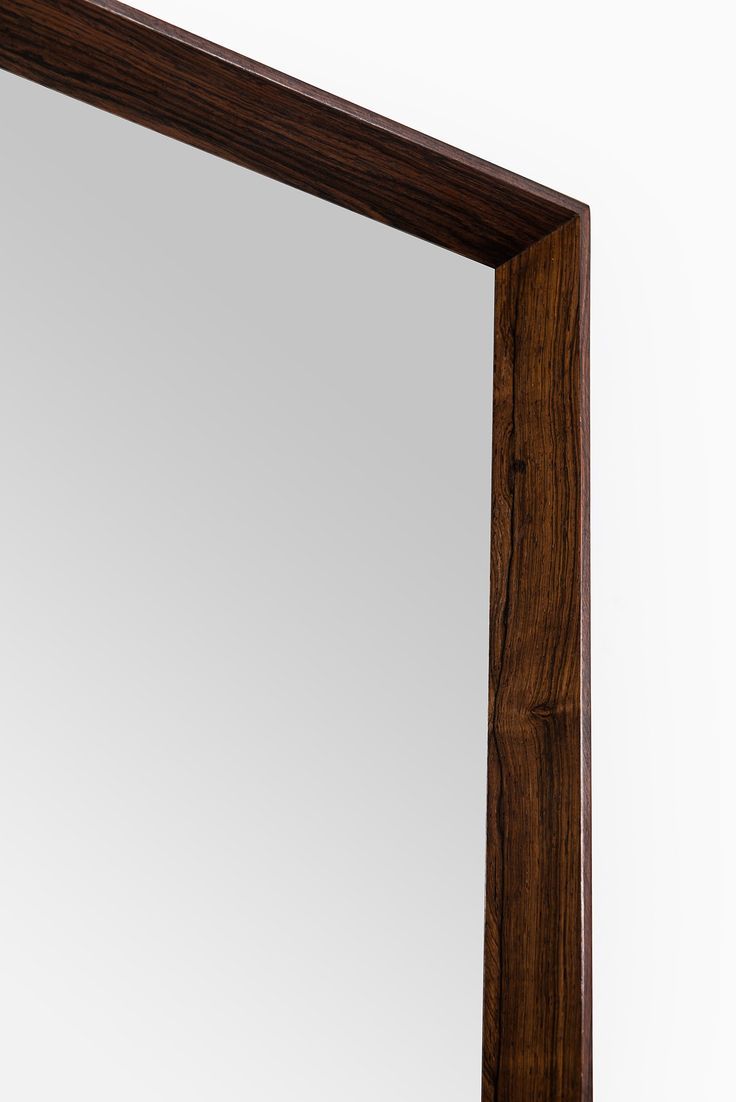 Rosewood mirror produced in Denmark at Studio Schalling