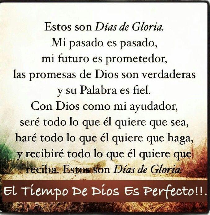 No te desesperes y no te afanes x el dia de mañana simplemente, Confía q Dios tiene el control de toda tu vida.