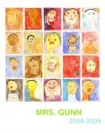 Class Portrait Posters:  I had every student create their own self portrait with pencil, sharpie, and chalk pastel. I then took a photograph of each portrait (they could have been scanned as well), laid out each image on a grid in photoshop along with the teachers name and year.  It takes some time, but worth it.  Send images to a poster printing place.