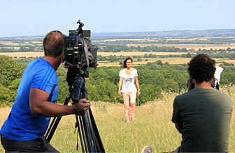 Filming Countryfile, August 2013
