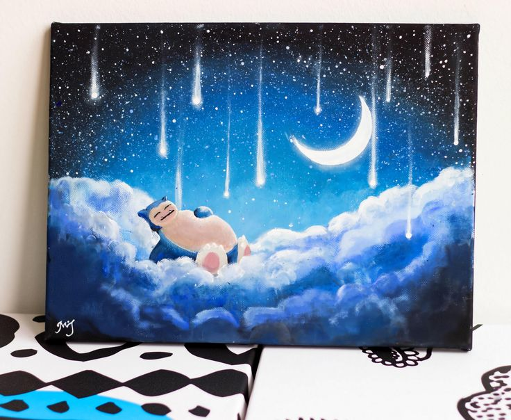 Another one of my wife's paintings Snorlax Moon lit night What do you guys think? http://ift.tt/2vTVPLe Check out Mystikz Gaming http://ift.tt/2tVNFmJ