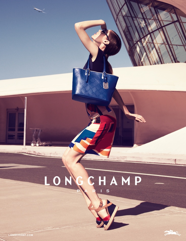 Photoshoot Longchamp new SS2013 campaign with Coco Rocha www.longchamp.com